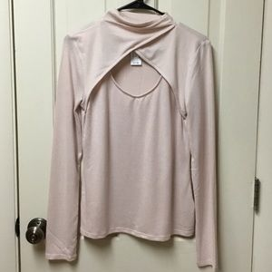 MAURICES Medium light pink sweater Cut out NWT
